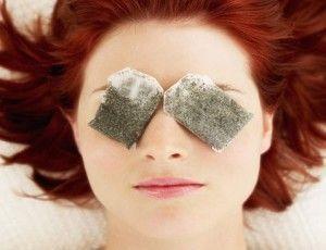 Manzanilla en ojos