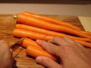 Preparar zanahorias