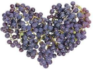 Uvas y corazón